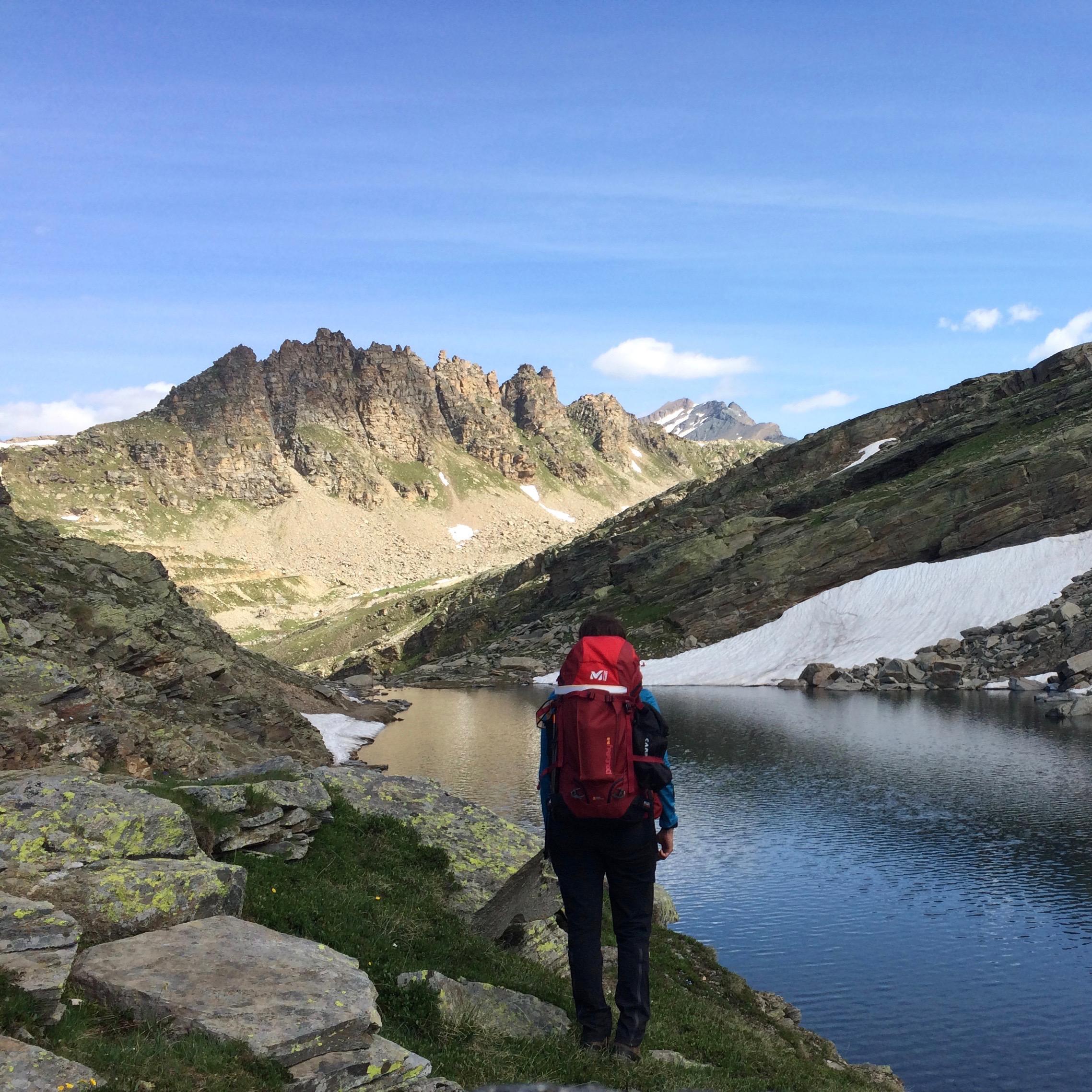 Colle del nivolet durante la traversata delle Alpi nell'estate del 2016