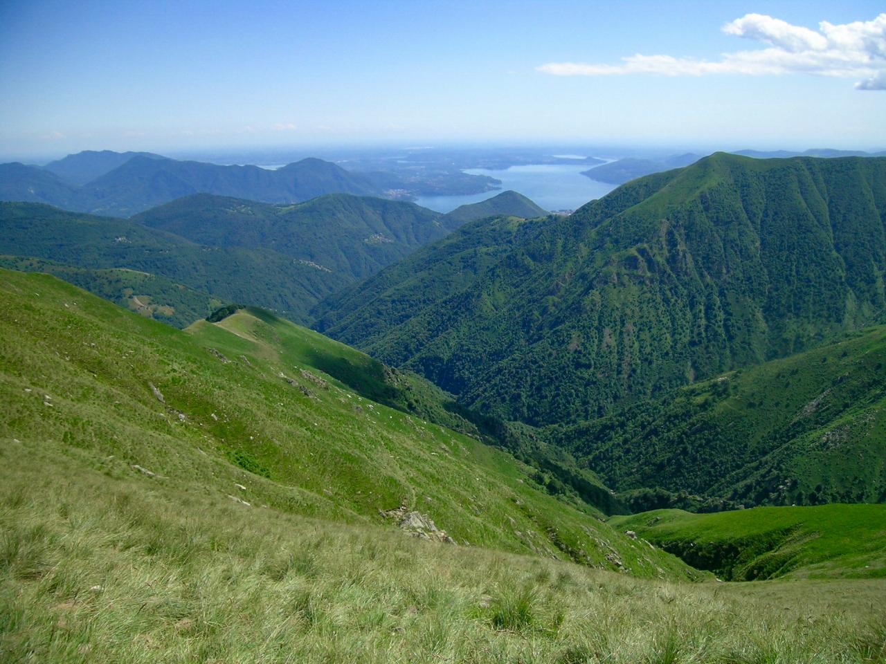 Vista sul Lago Maggiore durante l'Escursione Letteraria